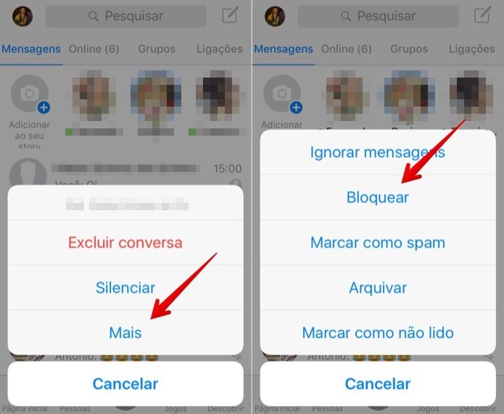 Block contact on Messenger Photo: Reproduo / Helito Beggiora