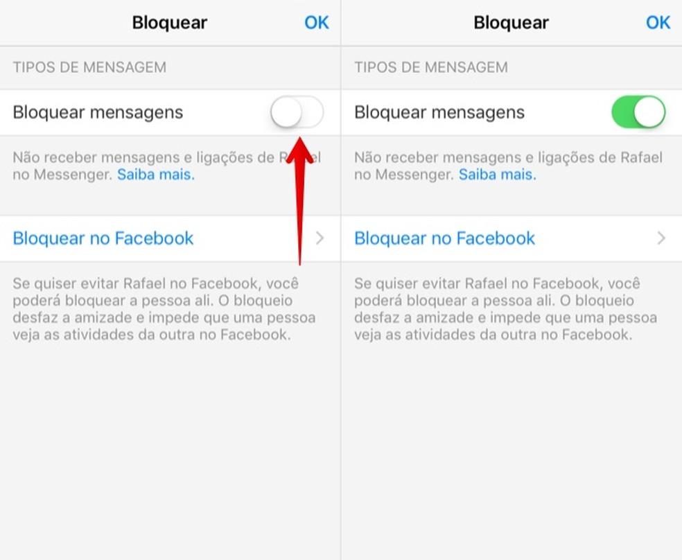 Block contact messages on Facebook Messenger Photo: Reproduo / Helito Beggiora