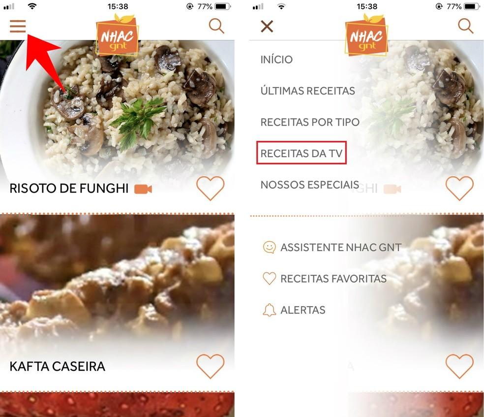 Nhac GNT separates the recipes for each program Photo: Reproduo / Rodrigo Fernandes