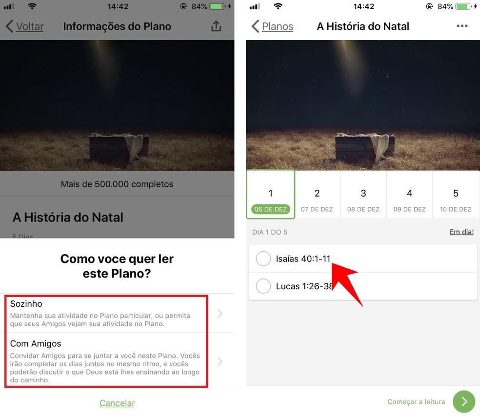 Holy Bible app tells important stories in an organized way Photo: Reproduo / Rodrigo Fernandes