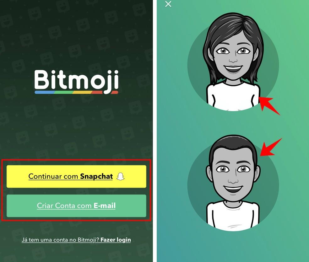 Creating a new Bitmoji by the official app Photo: Reproduo / Rodrigo Fernandes
