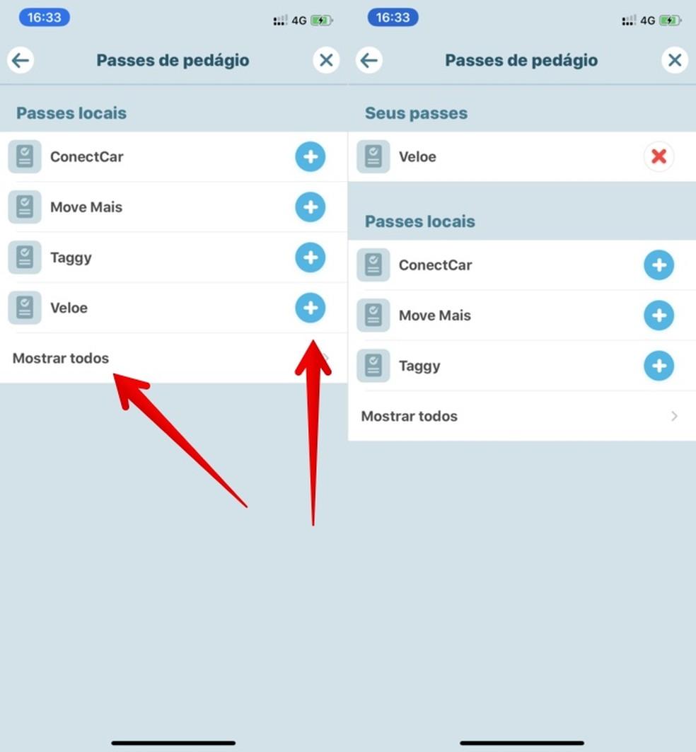 Configuring direct pass tag in Waze Photo: Reproduo / Helito Beggiora