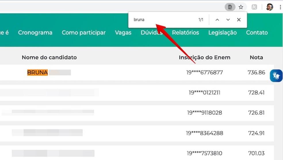 Using browser search tool Foto: Reproduo / Helito Beggiora