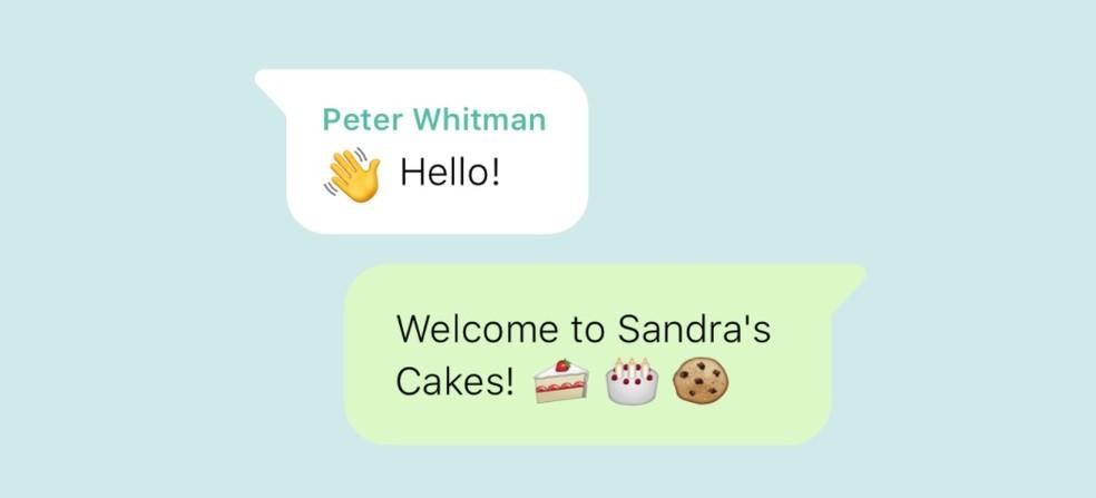 Example of automatic message in WhatsApp Business Photo: Divulgao / WhatsApp