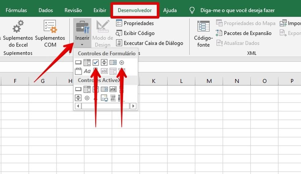 Adding a checkbox or option Photo: Reproduo / Helito Beggiora