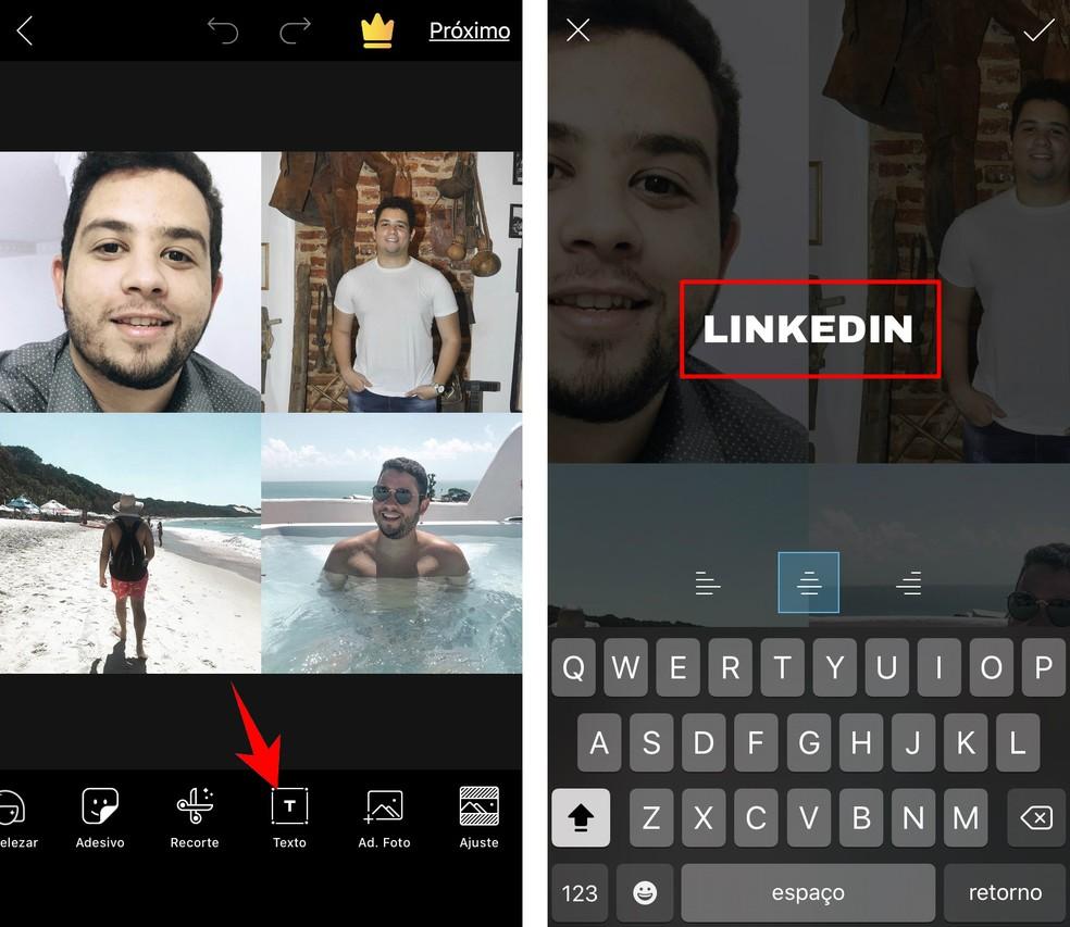Add texts to identify social networks in the meme Foto: Reproduo / Rodrigo Fernandes
