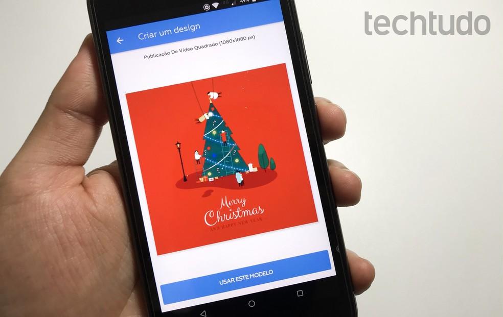 Christmas Card 2019: Crello app allows you to create animations on your cell phone Photo: Rodrigo Fernandes / TechTudo