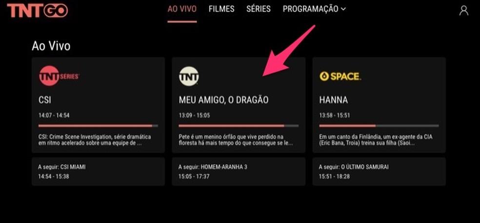 When to view the TNT Go service login screen Photo: Reproduo / Marvin Costa