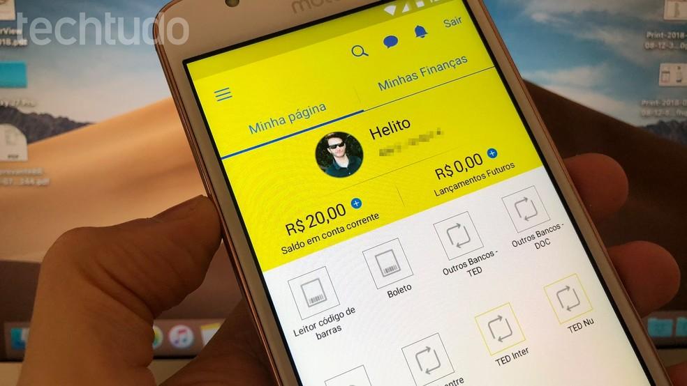 Obtain Banco do Brasil Income Statement to file income tax return 2019 Photo: Helito Bijora / TechTudo