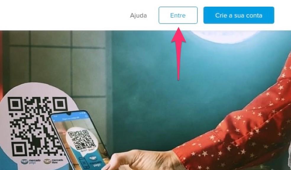 When to view the login screen at Mercado Pago Photo: Reproduo / Marvin Costa