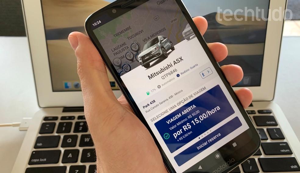 Learn how to use the Turbi app to rent cars Photo: Helito Beggiora / TechTudo
