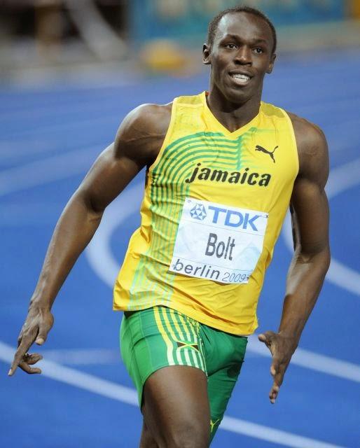 Usain Bolt ran 100 meters in 9.72 seconds