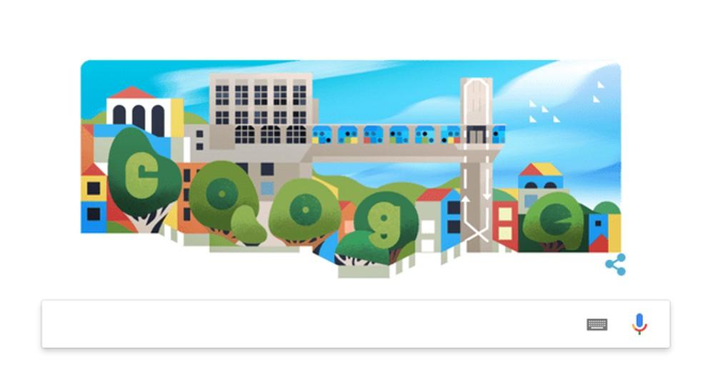 Elevador Lacerda's birthday wins Google tribute in Doodle Photo: Reproduo / Google