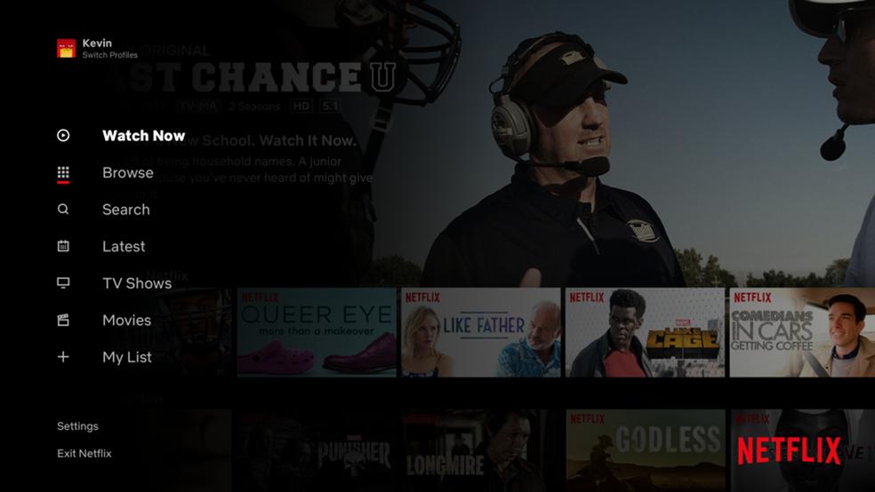 Netflix tests function that mimics ordinary TV Photo: Divulgao / Netflix