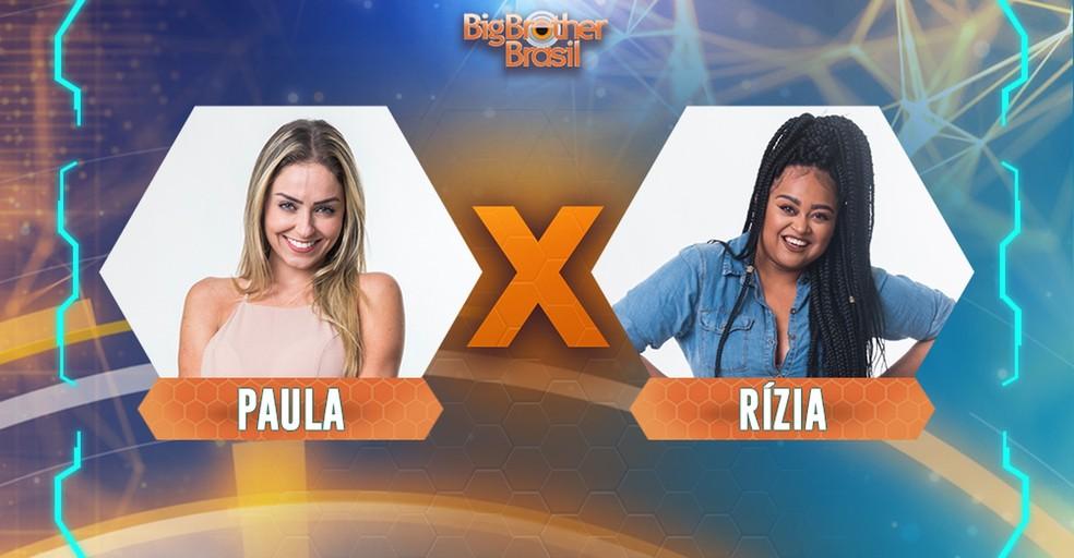 Paula and Rzia vie to stay at BBB 19 Photo: Divulgao / Gshow