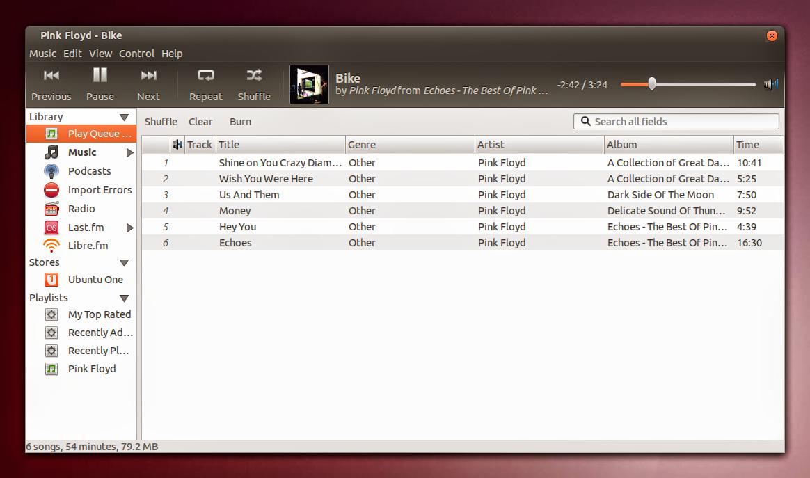 Rhythmbox Player Ubuntu