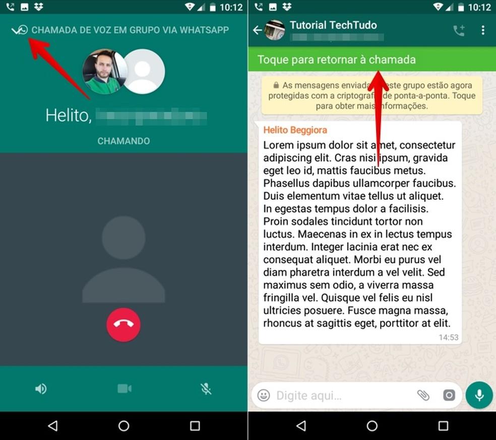Group voice call on WhatsApp Photo: Reproduo / Helito Beggiora