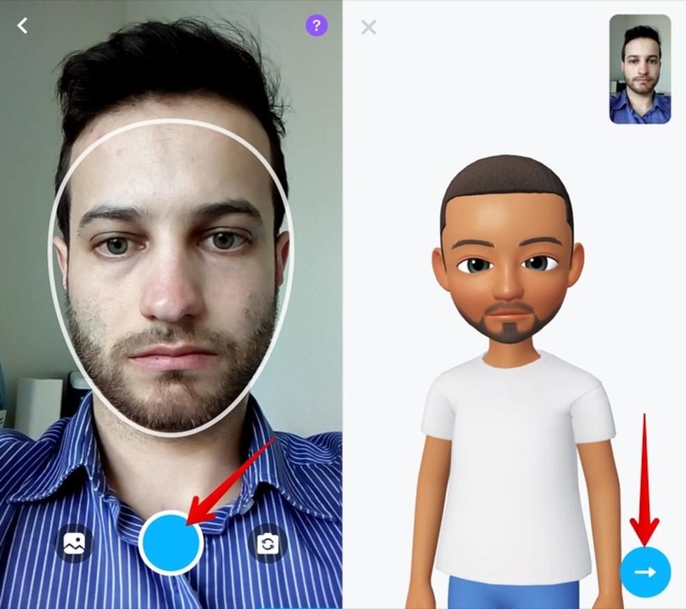 Take a selfie to create your avatar Photo: Reproduo / Helito Beggiora