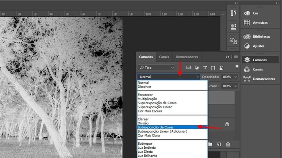 Add the Color Subexposure to the photo Photo: Reproduction / Joo Pedro Voltarelli