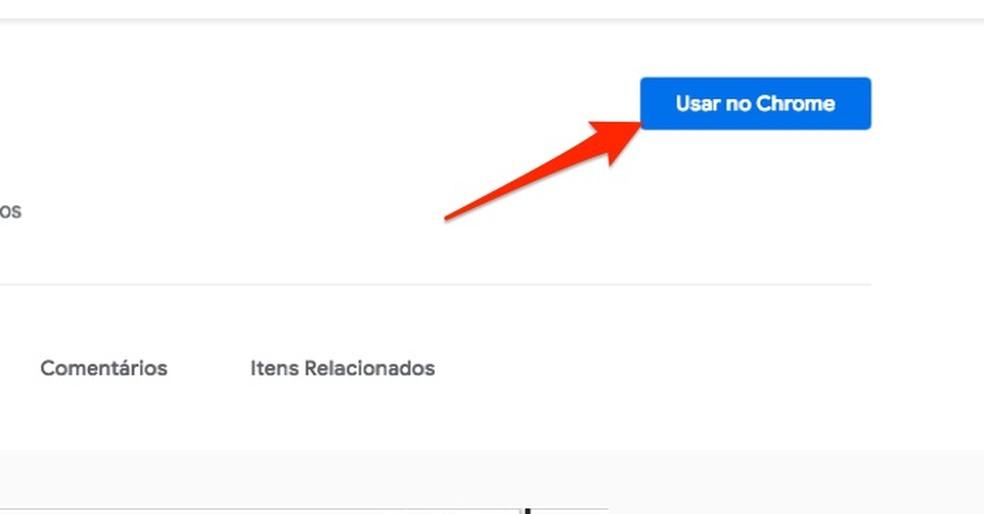 When preparing to download the Pelando extension in Chrome Photo: Reproduo / Marvin Costa