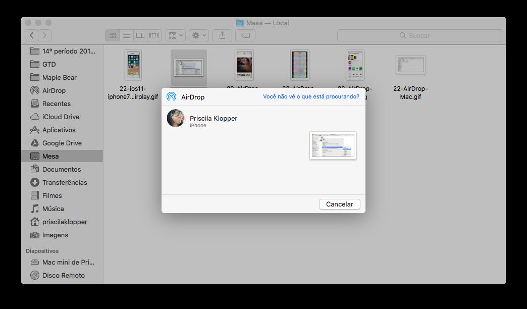 AirDrop on Mac