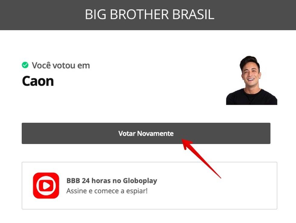 Voting confirmation screen Photo: Reproduo / Helito Beggiora