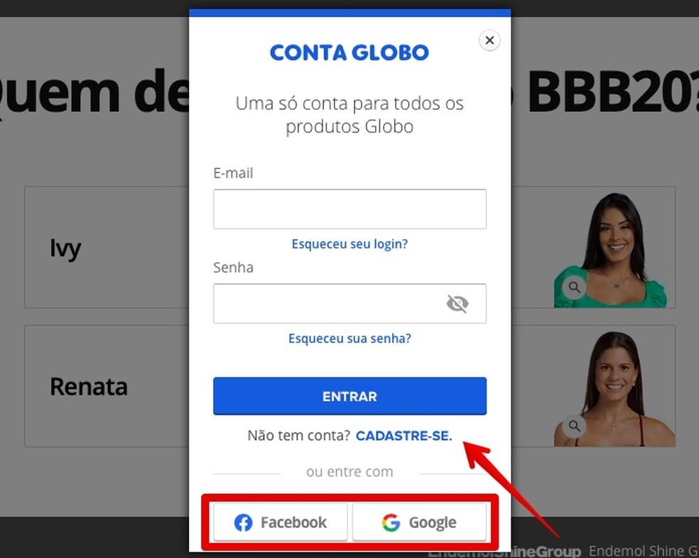 Log in or register at Globo.com Photo: Reproduo / Helito Beggiora