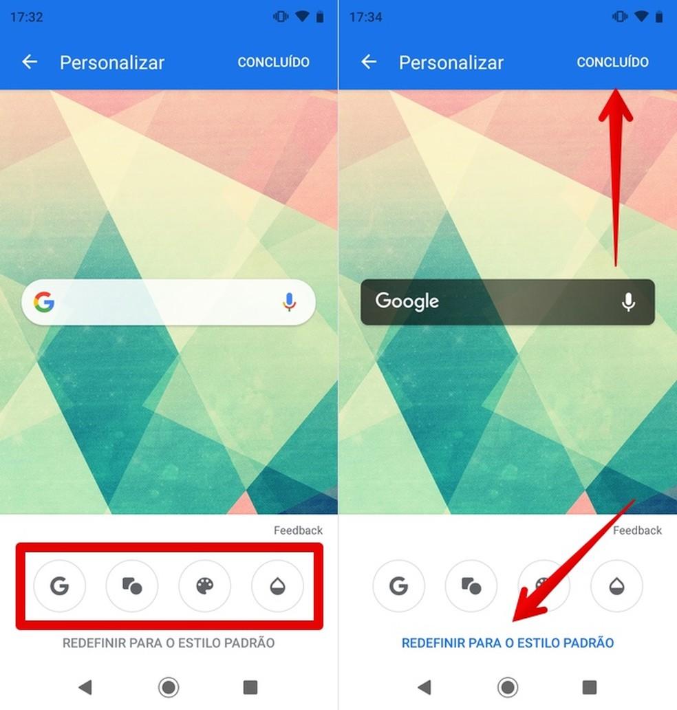 Customizing Google search widget Photo: Reproduo / Helito Beggiora