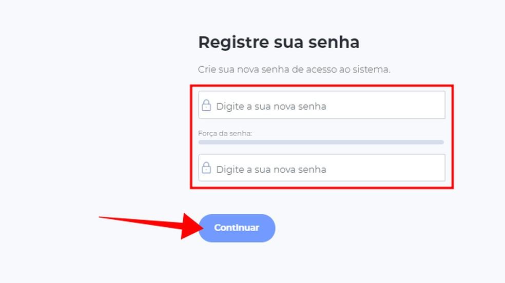 Create an access password Photo: Reproduo / Paulo Alves