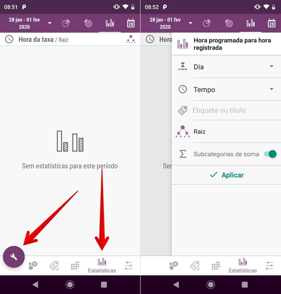 Viewing statistics of the organizing app Foto: Reproduo / Helito Beggiora