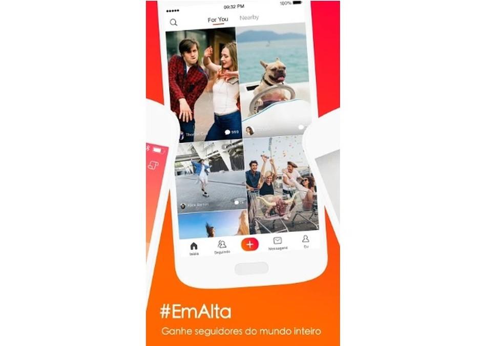 Vigo Video has infinite feed with mosaic of four videos on the screen Photo: Divulgao / Vigo Video
