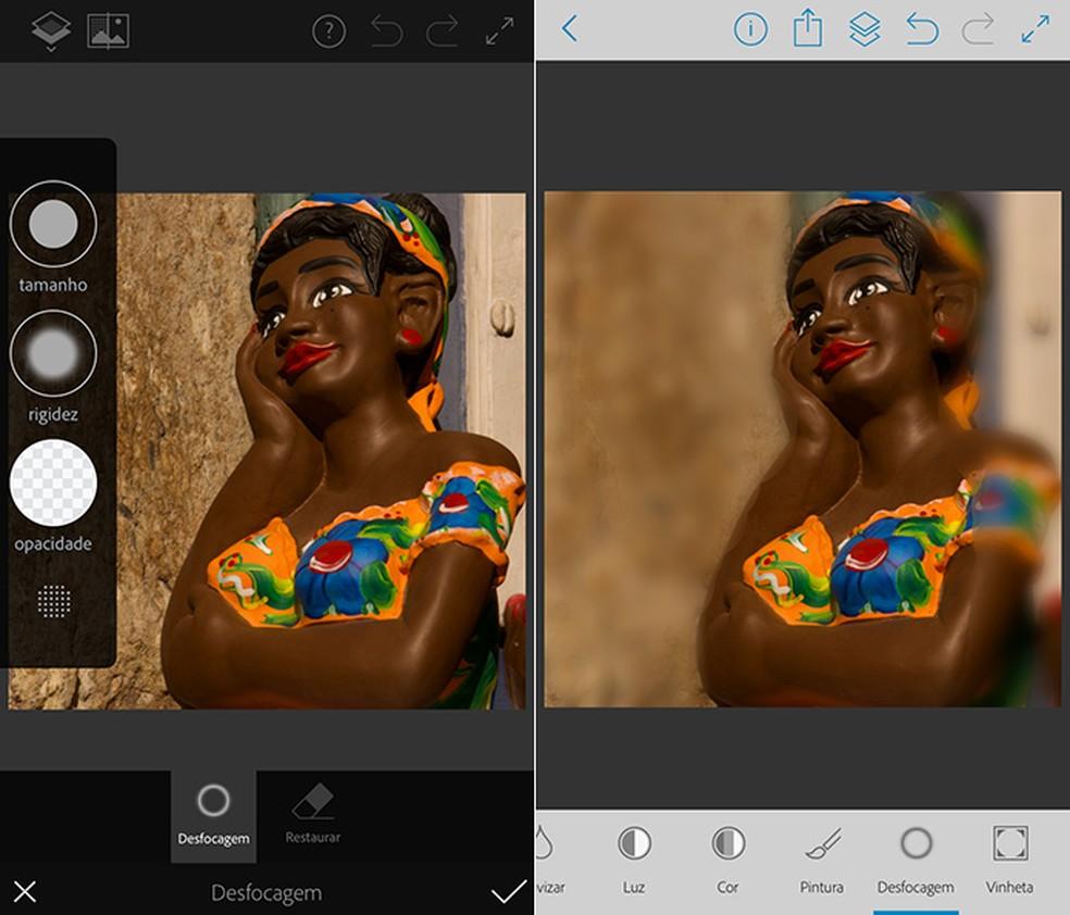 Using the brush tool, you can easily blur any image in Photoshop Fix Photo: Reproduo / Amanda de Almeida