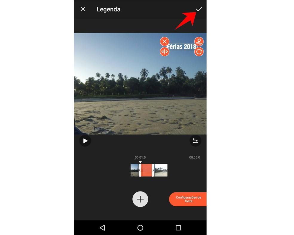 VideoShow allows you to insert texts in the videos Photo: Reproduo / Rodrigo Fernandes