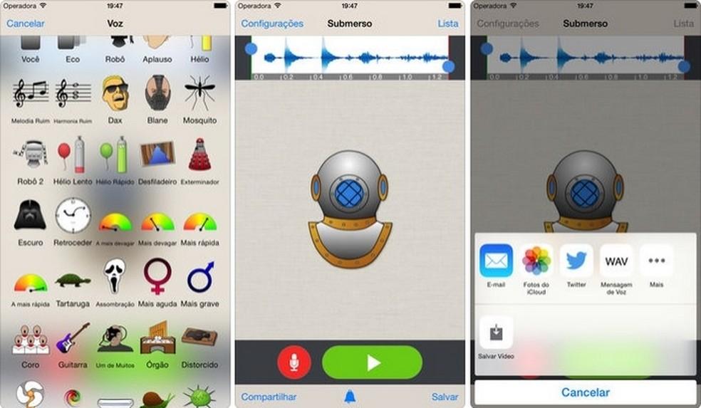 Voice Changer Plus, iOS app that changes voice with fun effects Photo: Reproduo / Raquel Freire