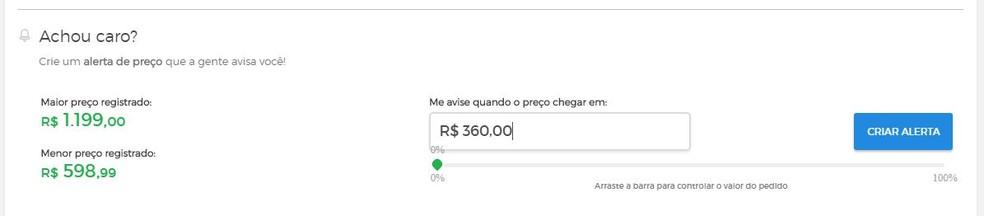Buscap price alert Photo: Reproduo / Taysa Coelho