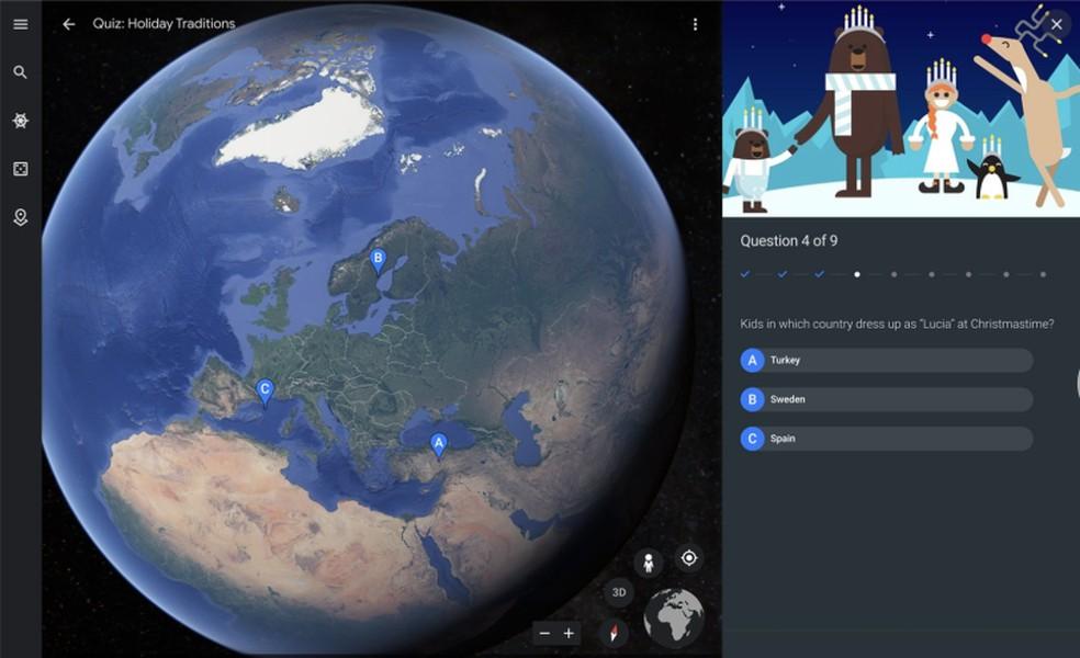 Vila do Plo Norte, Google's Christmas attraction, has integration with Google Earth Photo: Divulgao / Google