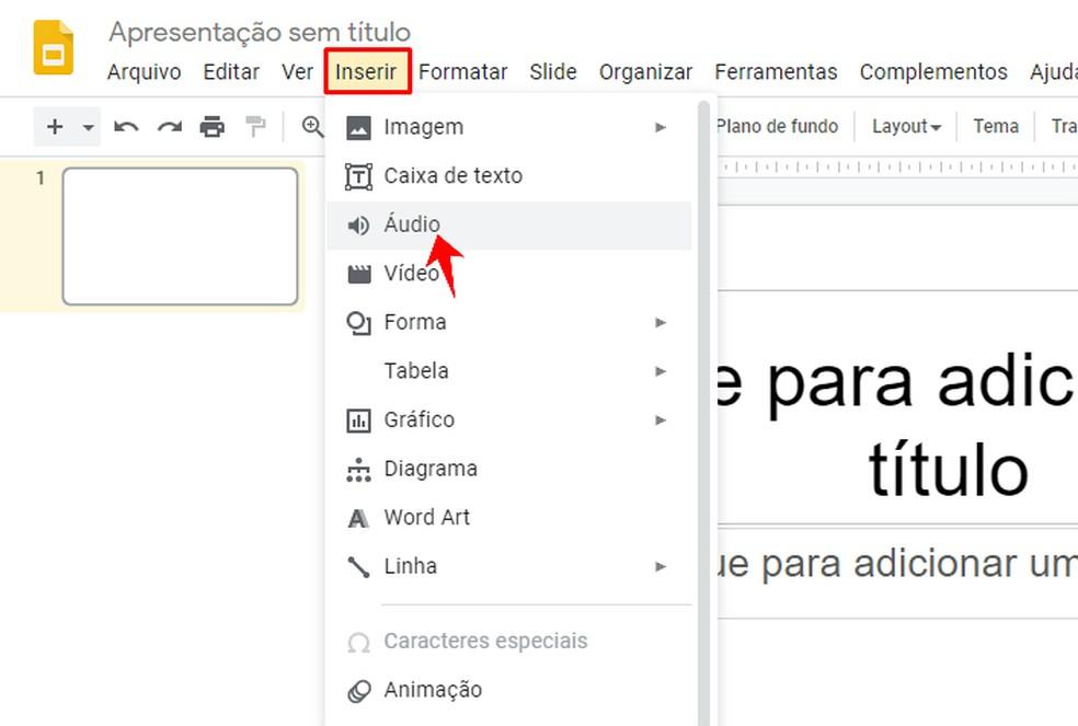 Adding audio to a Google Slide presentation Photo: Reproduo / Rodrigo Fernandes