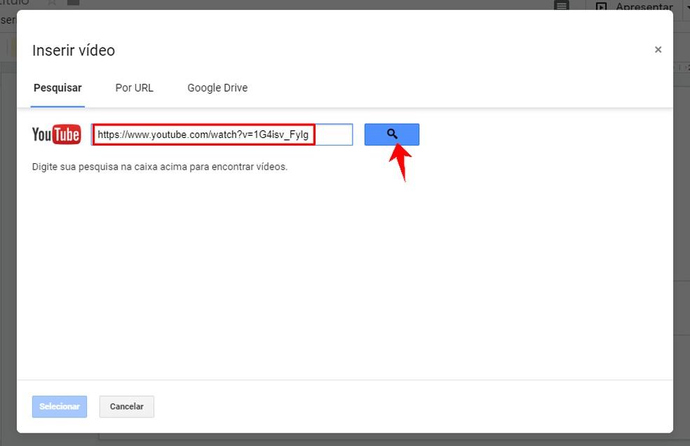 Google Slides allows you to use YouTube videos in presentations Photo: Reproduo / Rodrigo Fernandes