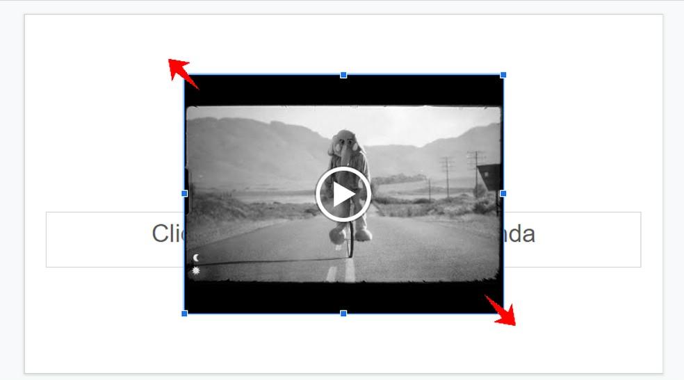Resize the YouTube video as you like on Google Slides Photo: Reproduo / Rodrigo Fernandes