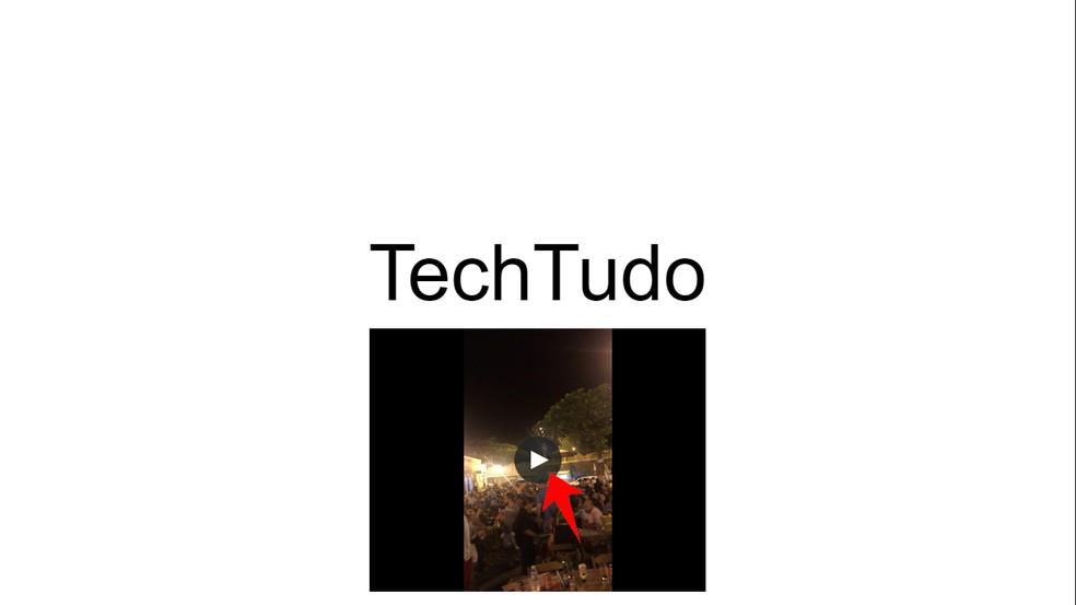 Google Drive video playback does not interrupt the presentation of Google Slides Photo: Reproduo / Rodrigo Fernandes