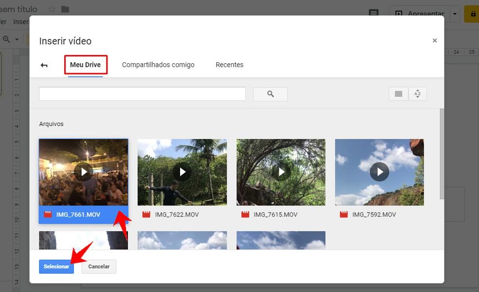 Adding a Google Drive video to a Google Slides presentation Photo: Reproduo / Rodrigo Fernandes