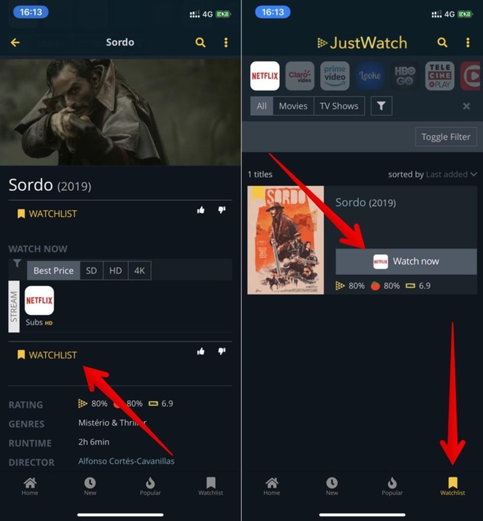 Adding movies to watch on Netflix Photo: Reproduo / Helito Beggiora