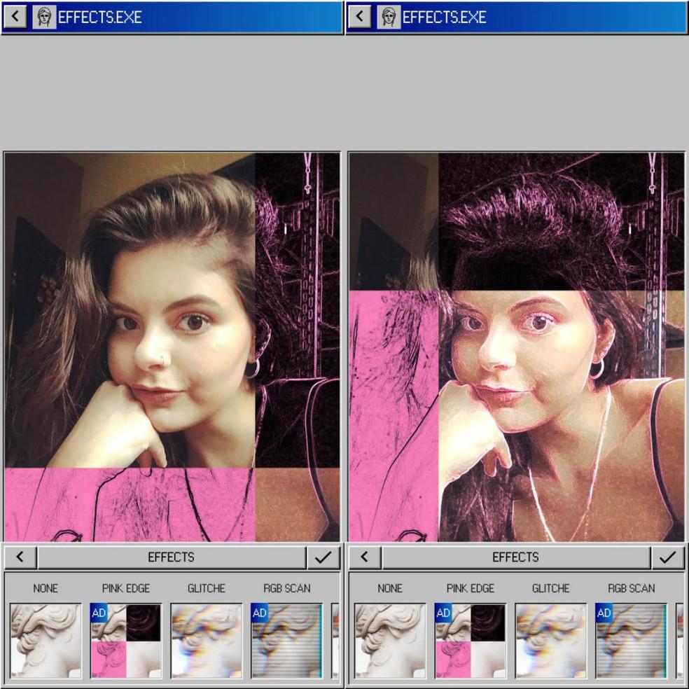 Vaporgram is an app to edit Tumblr photos Photo: Reproduction / Clara Fabro