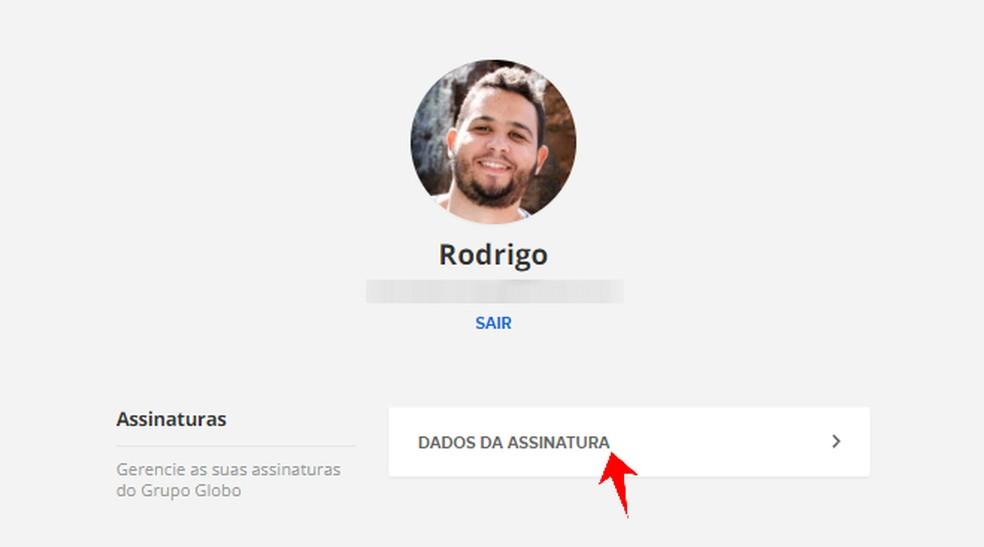 Seo renene all active content subscriptions of Grupo Globo associated with Globo Account Photo: Reproduo / Rodrigo Fernandes