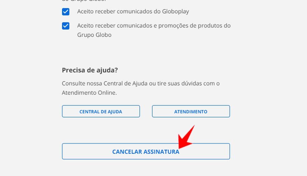 Canceling a subscription to Globoplay Photo: Reproduo / Rodrigo Fernandes