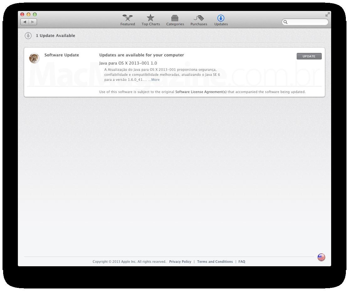 Java Update - Apple