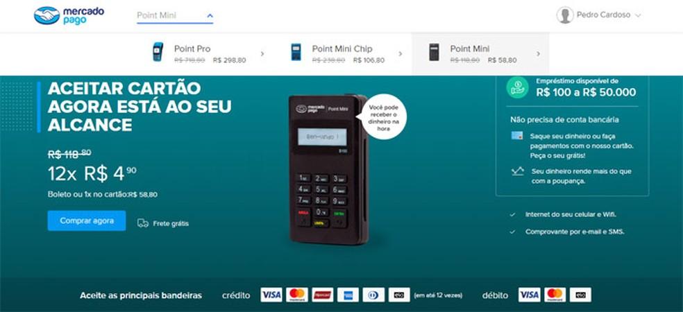 Mercado Pago has its own little machine Photo: Reproduo / Pedro Cardoso