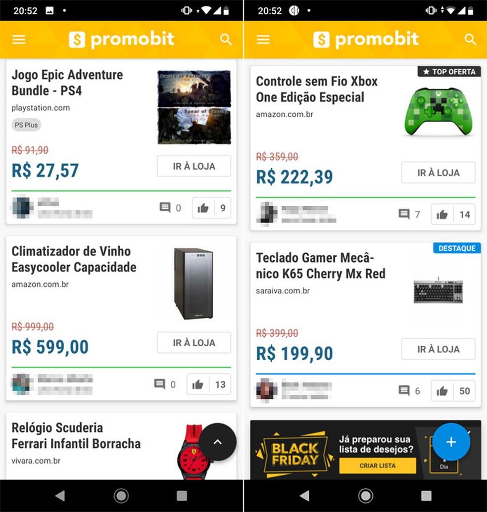 Promobit brings well-organized offers Photo: Reproduo / Pedro Cardoso