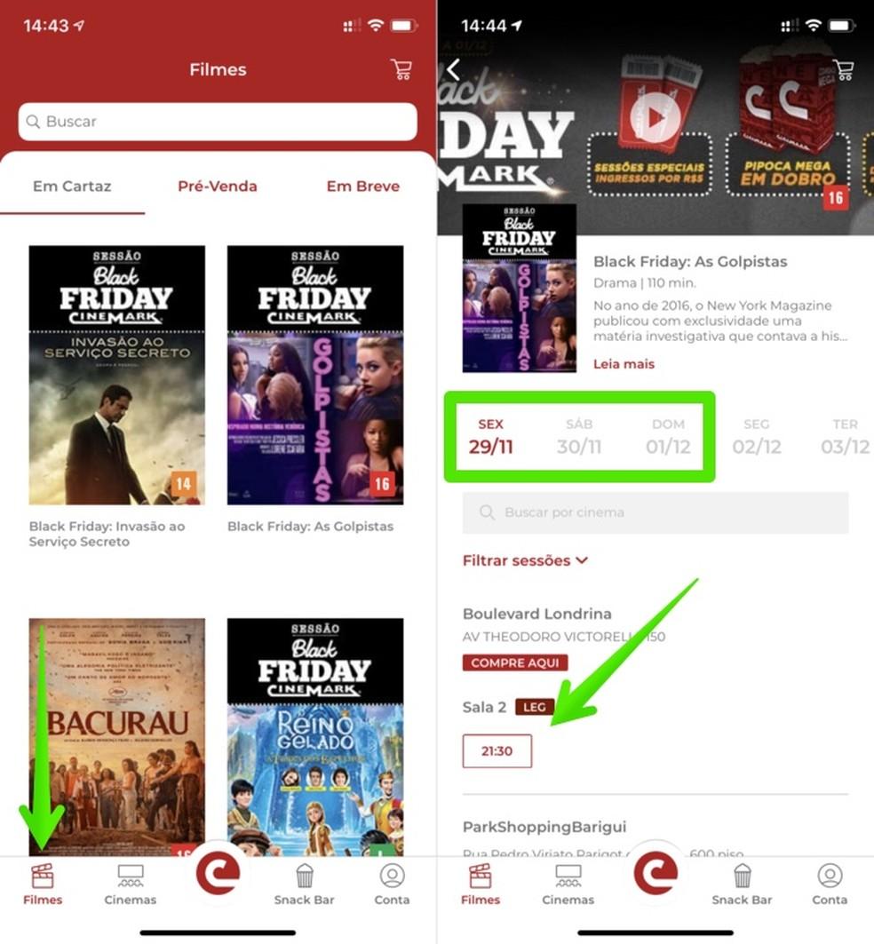 Locate the desired Cinemark movie on Black Friday Photo: Reproduo / Helito Beggiora