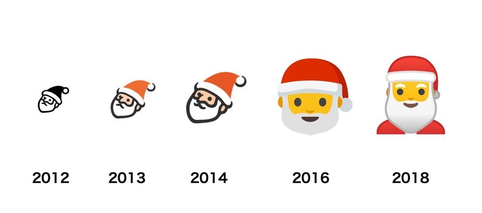 Google's Santa Claus emoji had a sad face Photo: Reproduo / Emojipedia